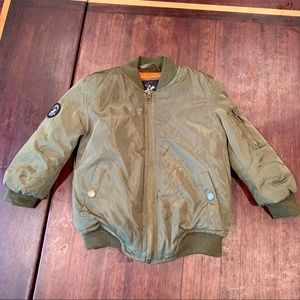 Olive-green Kid's Bomber Jacket, size 3T - Warm!
